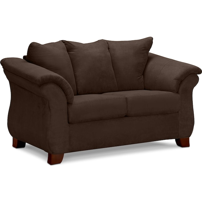 Living Room Furniture - Adrian Loveseat - Chocolate