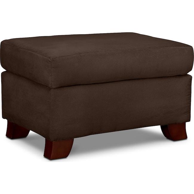 Living Room Furniture - Adrian Ottoman - Chocolate