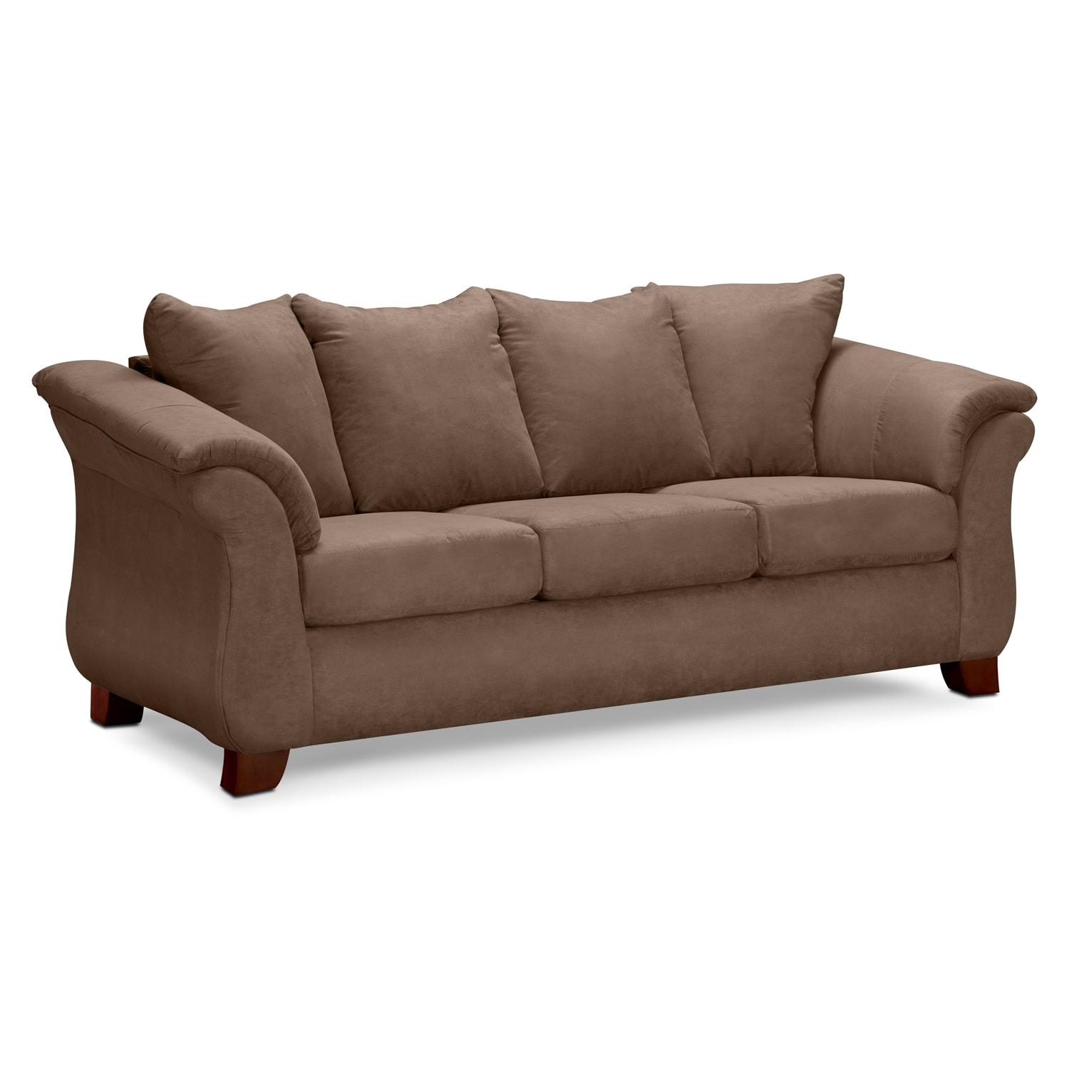 Adrian sofa taupe american signature furniture for Signature furniture
