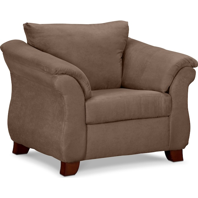 Living Room Furniture - Adrian Chair - Taupe