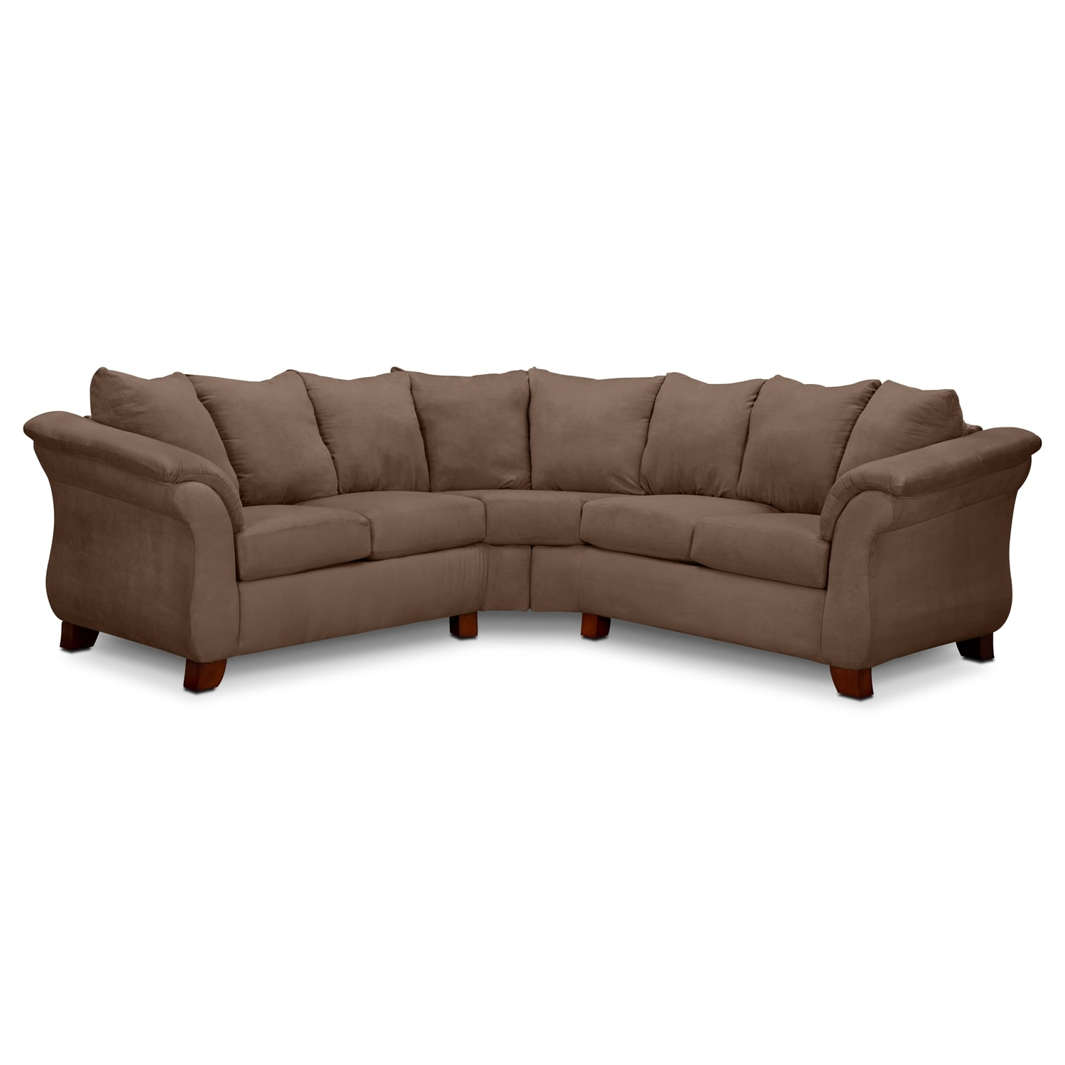 American Signature Furniture: Adrian 2-Piece Sectional - Taupe
