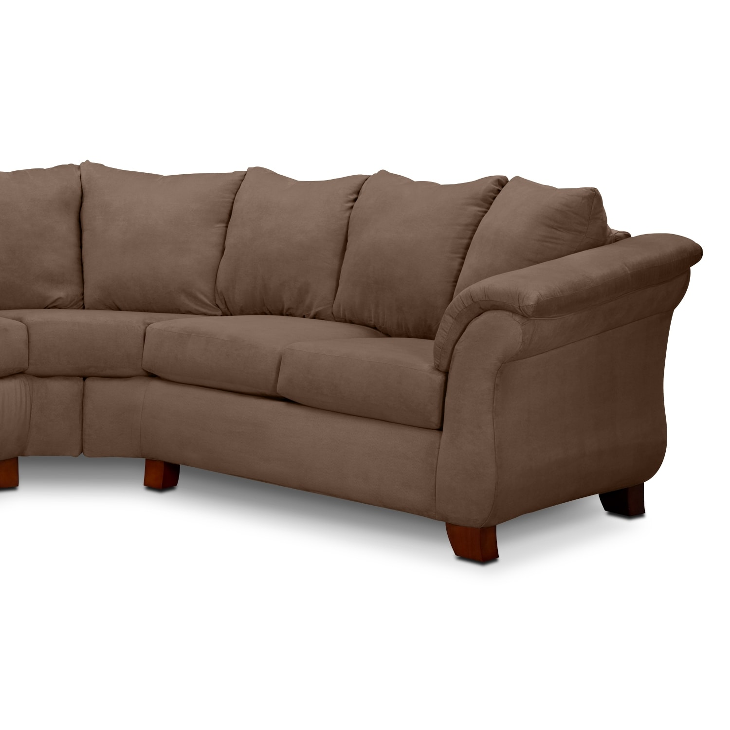 Adrian 2 piece sectional taupe american signature for Signature furniture
