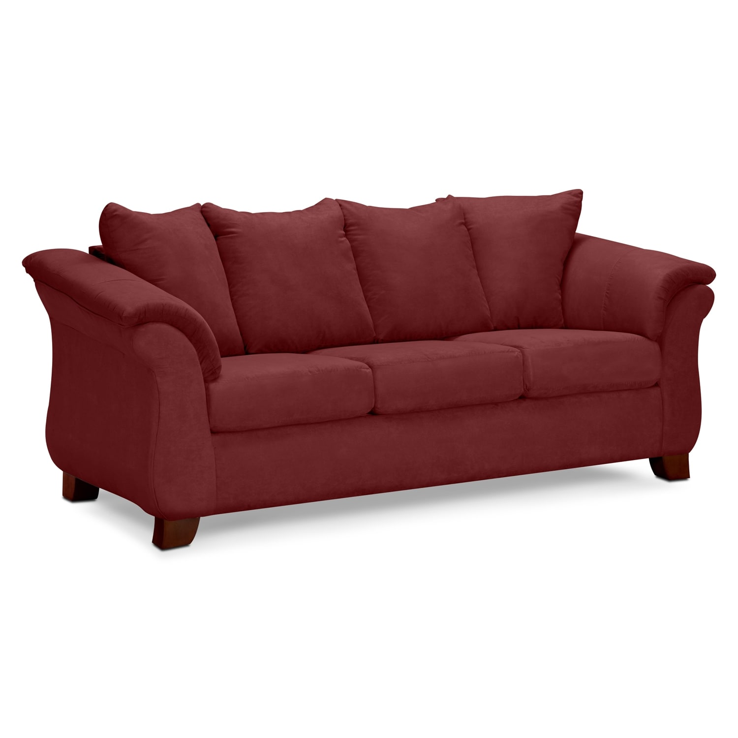 Living Room Furniture - Adrian Sofa - Red