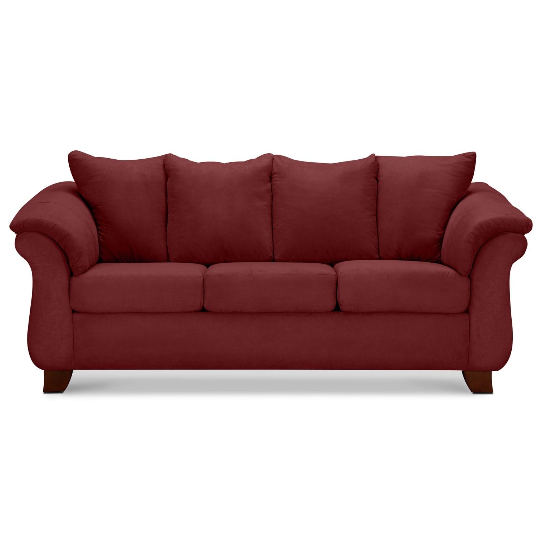 Adrian Sofa Red American Signature Furniture