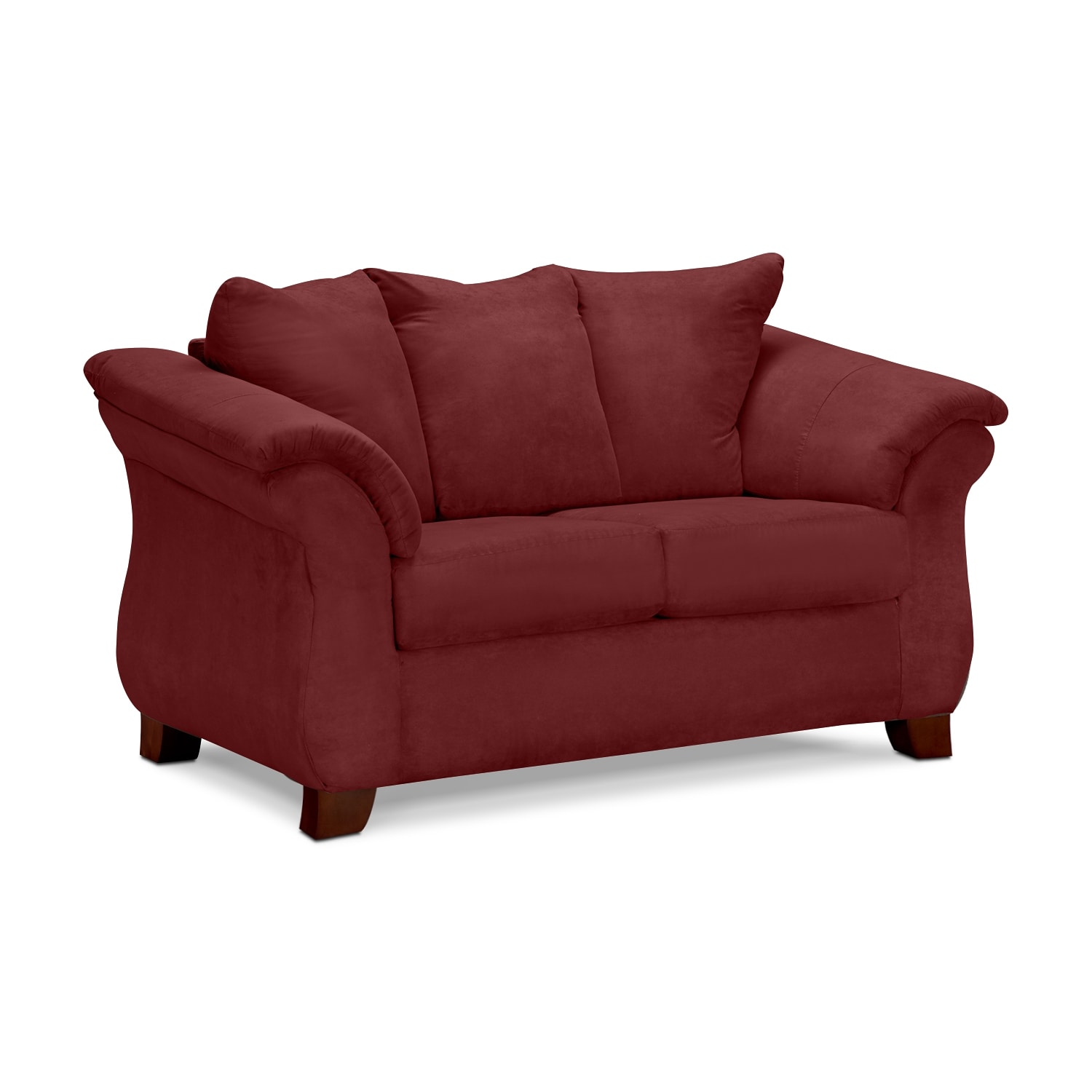 Adrian Red Loveseat