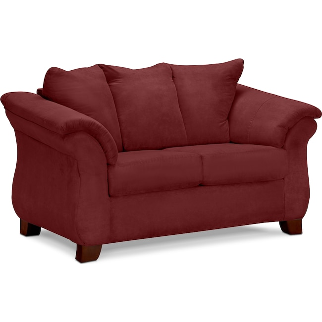 Living Room Furniture - Adrian Loveseat - Red