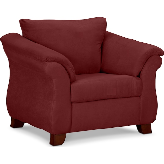 Living Room Furniture - Adrian Chair - Red