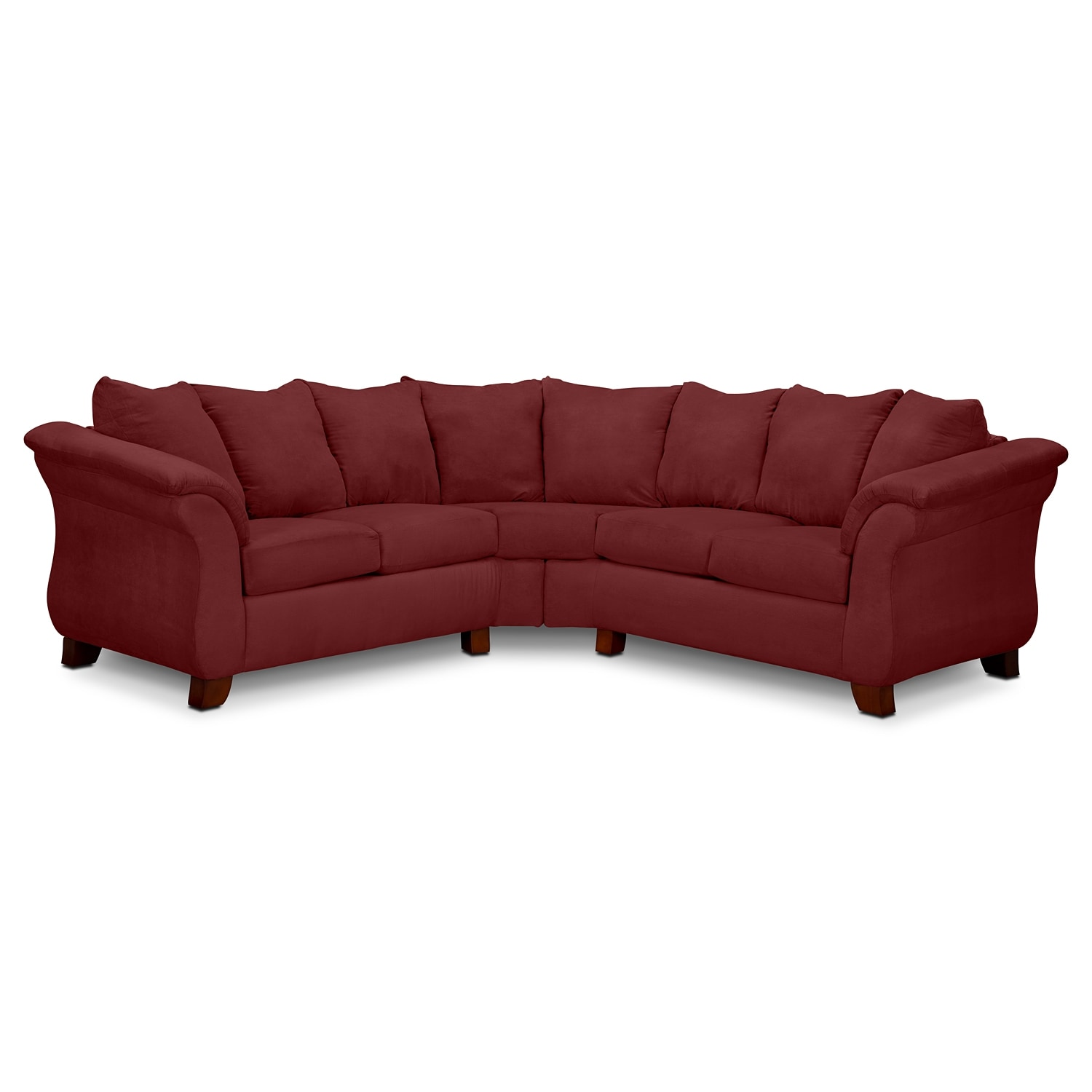 adrian red 2piece sectional red