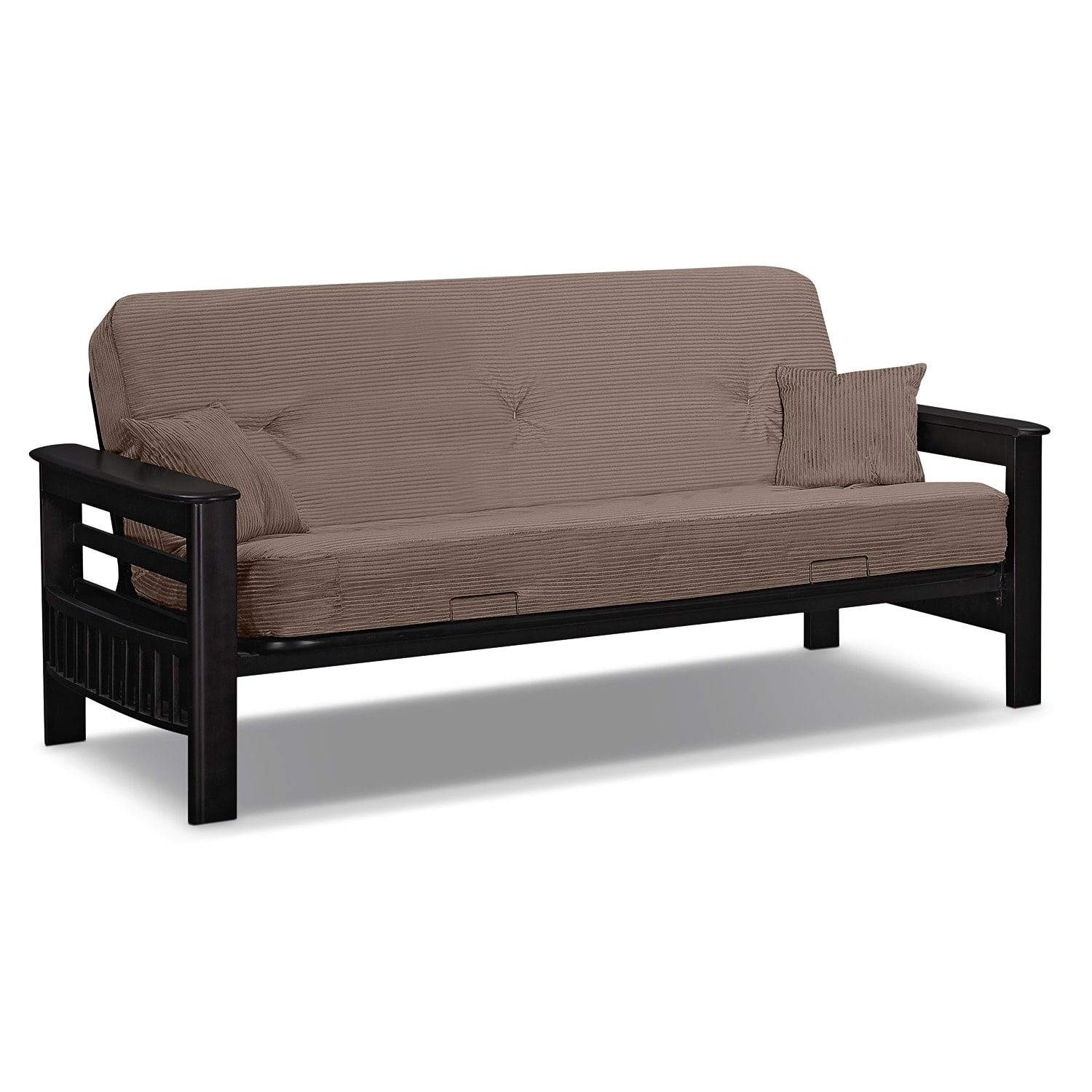 Tampa futon sofa bed beige american signature furniture for Sofa bed 3 2