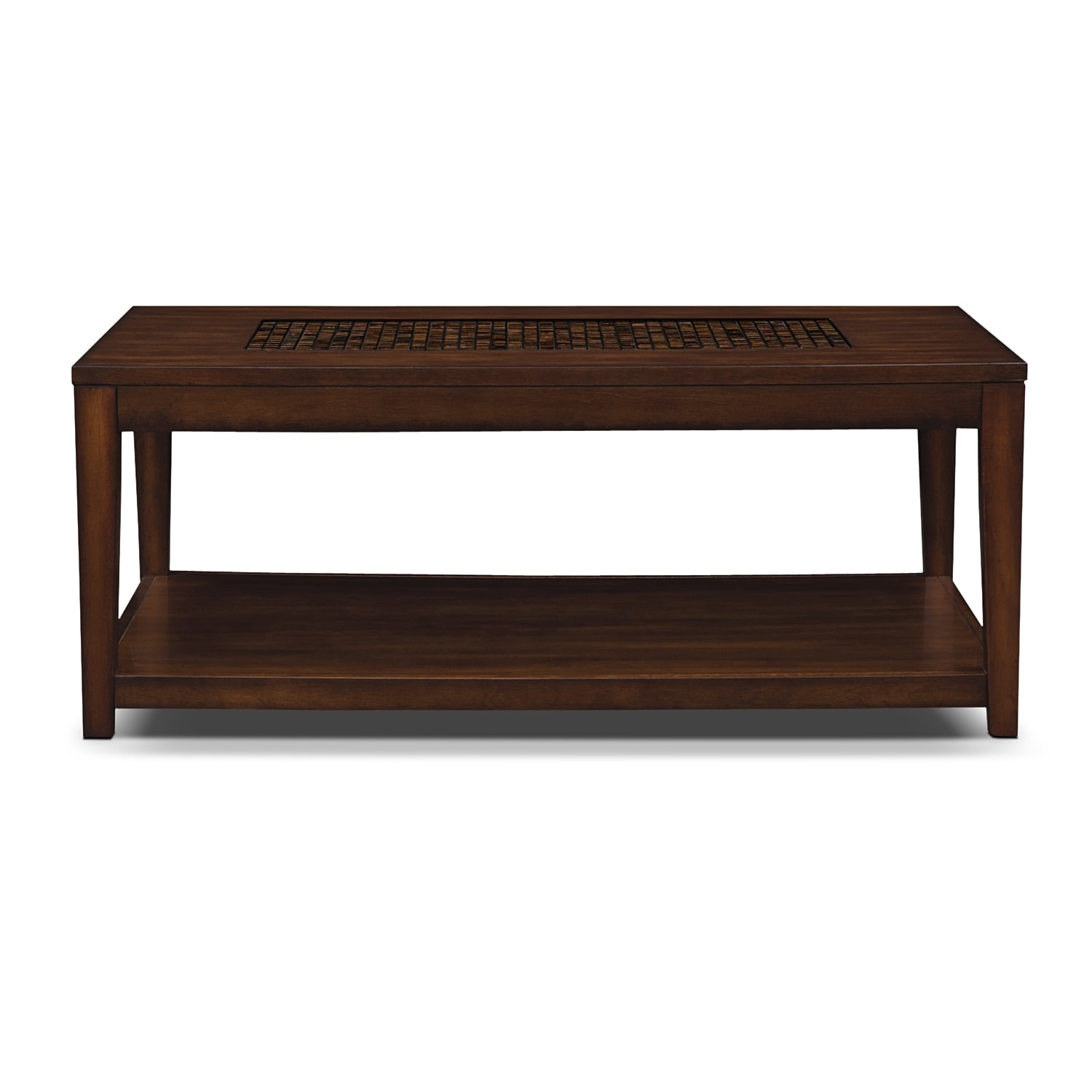 Carson cocktail table brown american signature furniture for Signature furniture
