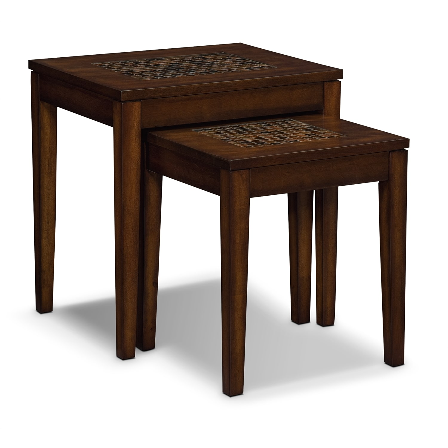 Accent and Occasional Furniture - Carson Nesting Tables - Brown