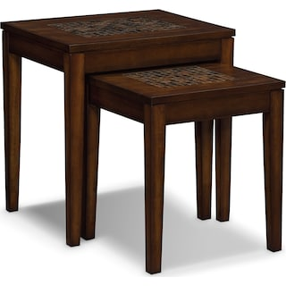 Carson Nesting Tables - Brown