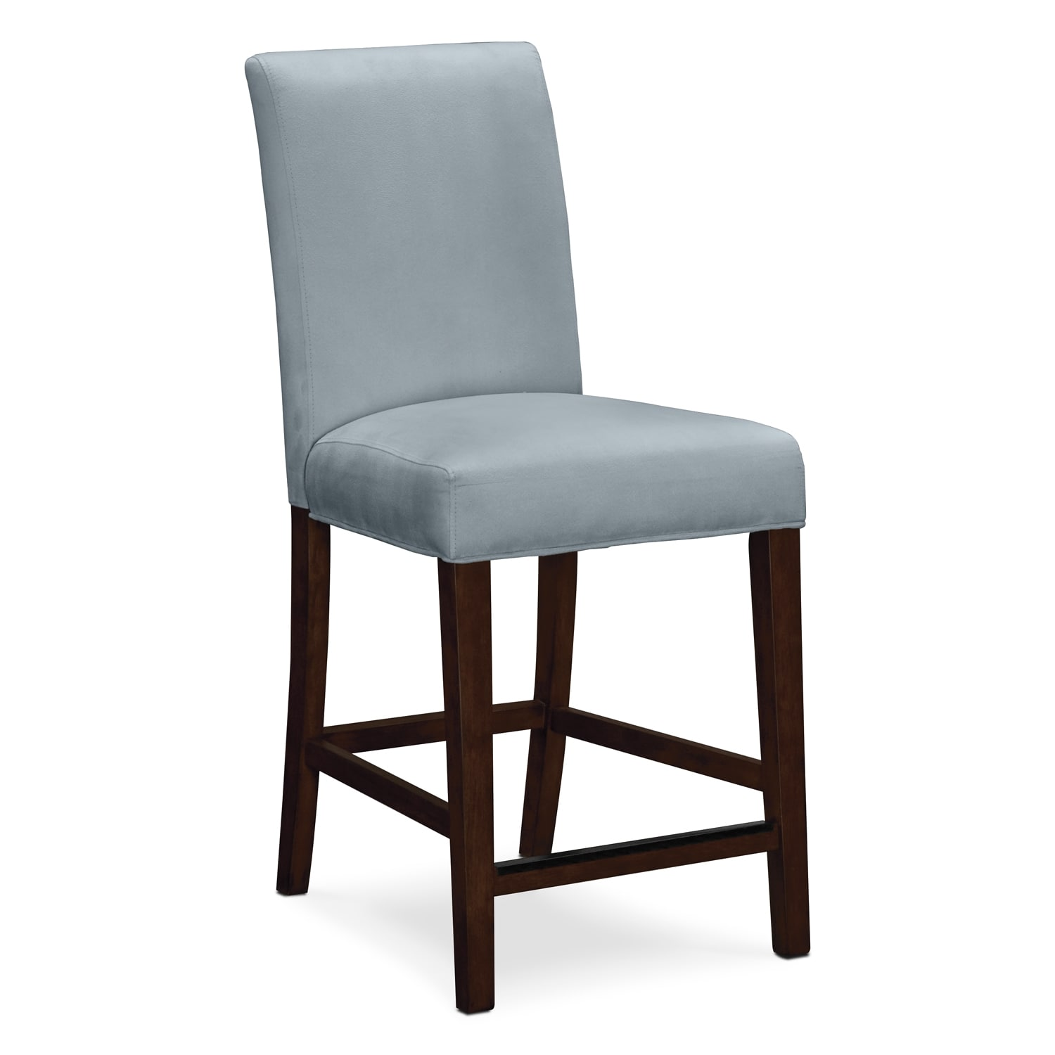 Alcove counter height stool aqua american signature furniture - Average height of bar stools ...