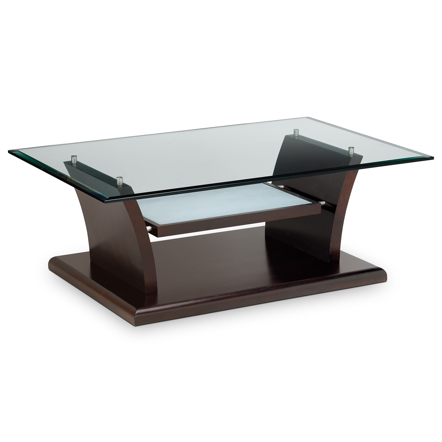 Bell Aer Cocktail Table Merlot American Signature Furniture