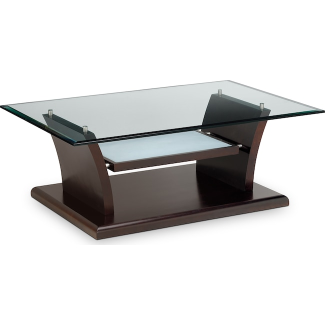 Bell Aer Cocktail Table Merlot American Signature