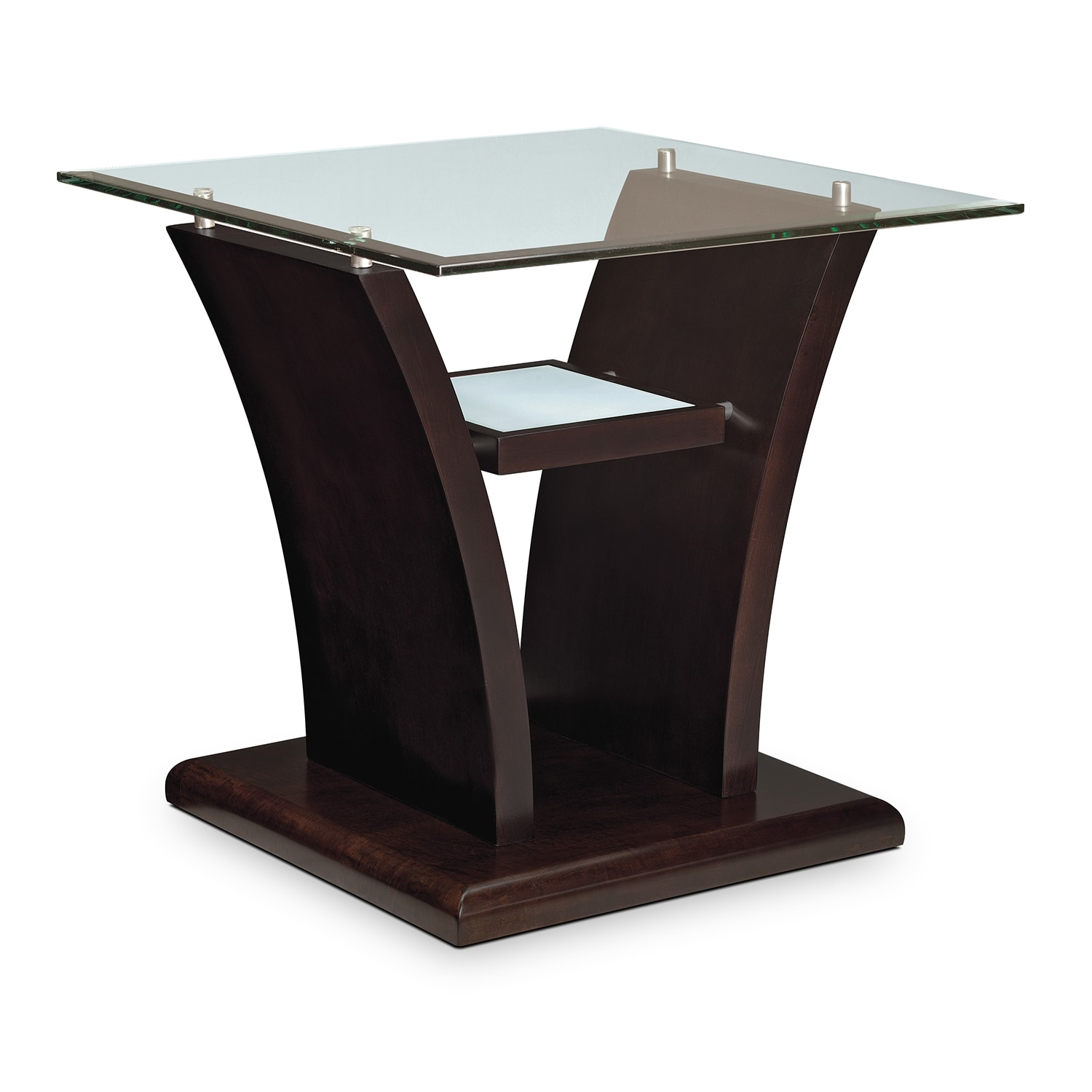 Accent and Occasional Furniture - Bell Aer End Table - Merlot