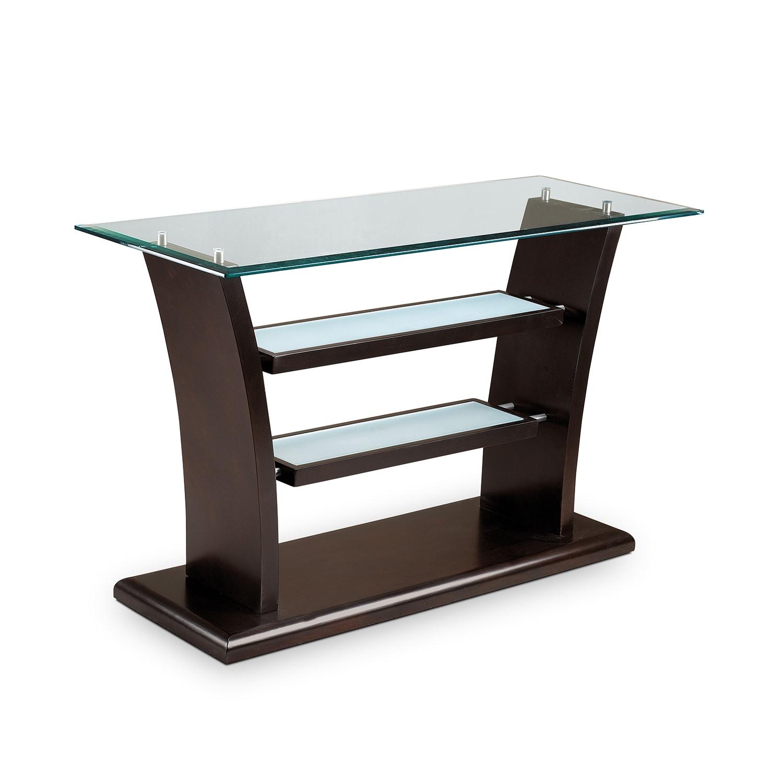 Bell Aer Sofa Table Merlot American Signature Furniture