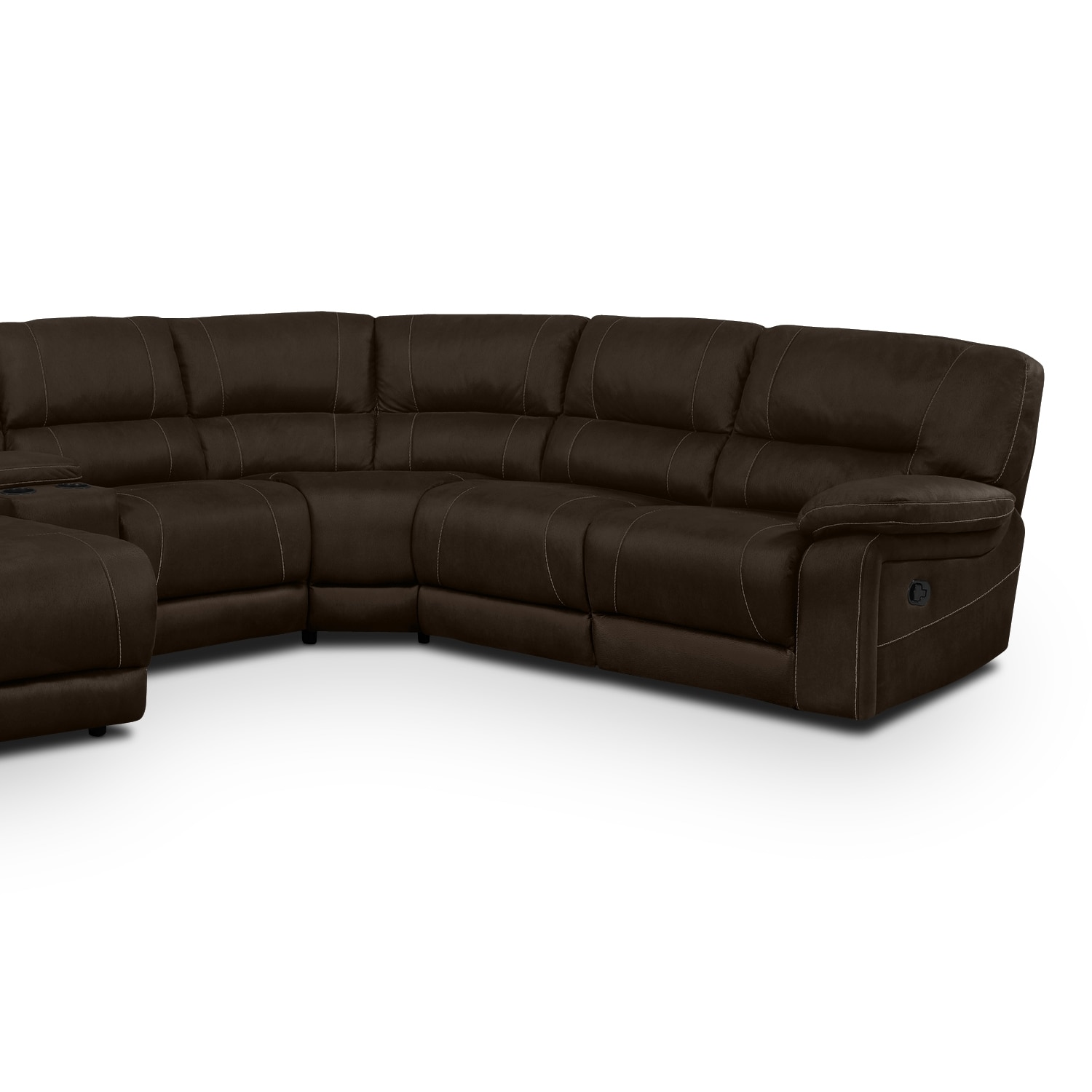 Wyoming 5 Piece Reclining Sectional with Left Facing Chaise
