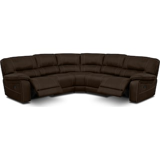 Wyoming 3-Piece Reclining Sectional - Saddle Brown