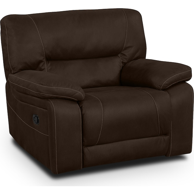 Living Room Furniture - Wyoming Glider Recliner - Saddle Brown