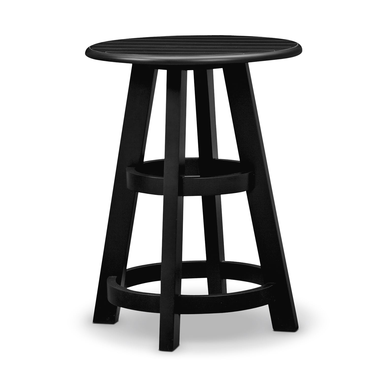 Accent and Occasional Furniture - Plantation Cove Coastal Black Lamp Table
