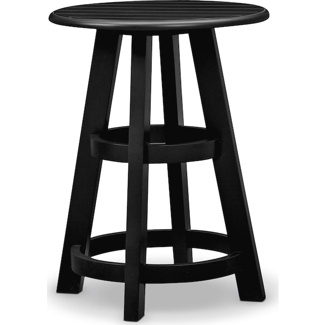 Accent and Occasional Furniture - Plantation Cove Coastal Chairside Table - Black