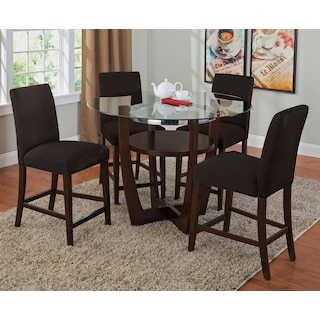 Alcove Counter-Height Dinette with 4 Counter-Height Stools