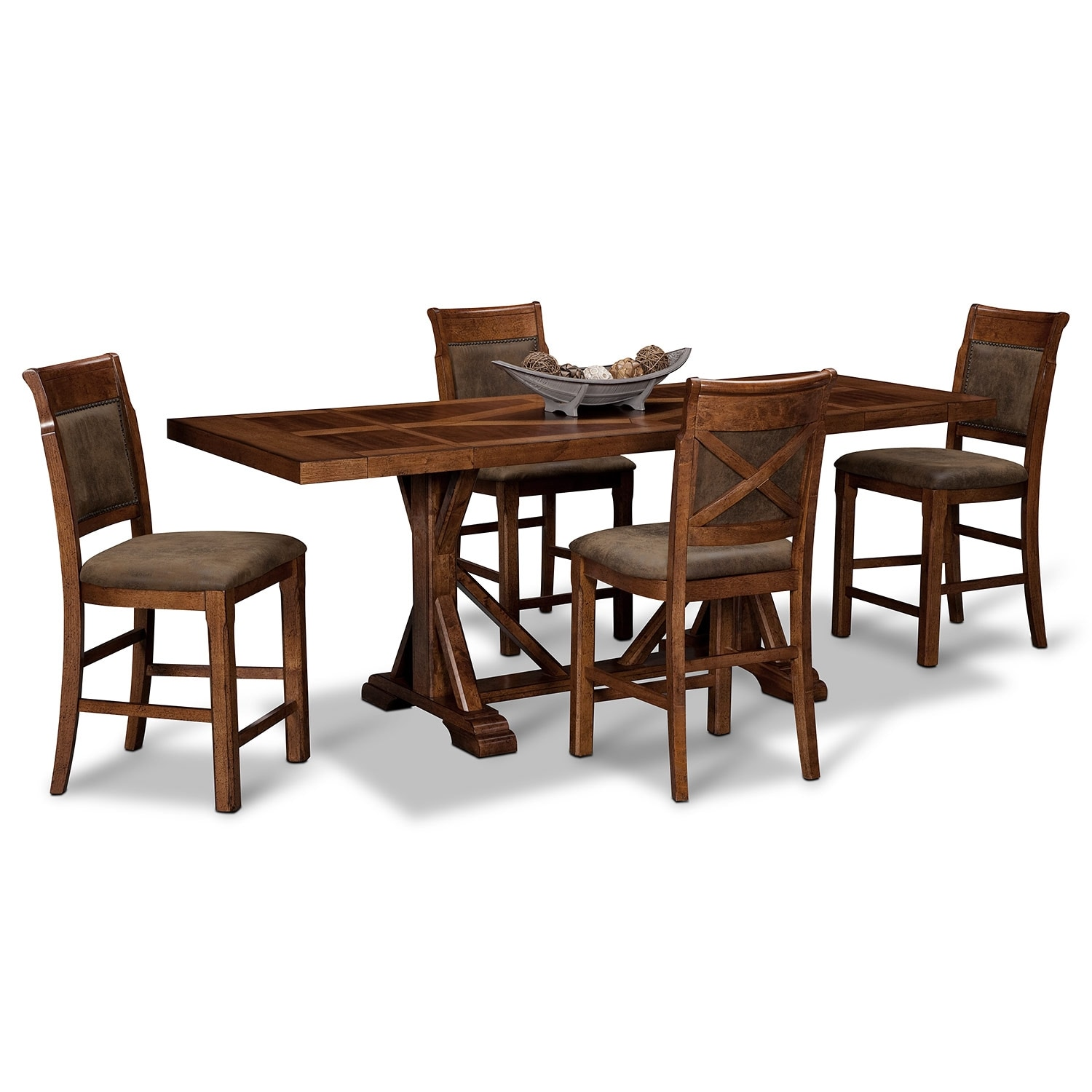 Dining Room Furniture - Austin Walnut 5 Pc. Counter-Height Dinette