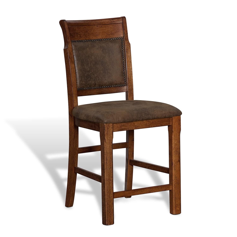 Dining Room Furniture - Austin Walnut Counter-Height Stool