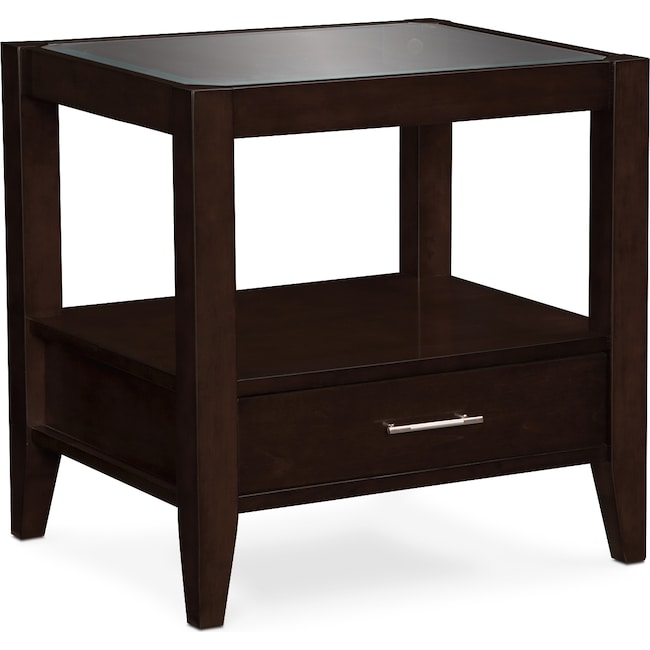 Accent and Occasional Furniture - Clarity End Table - Chocolate