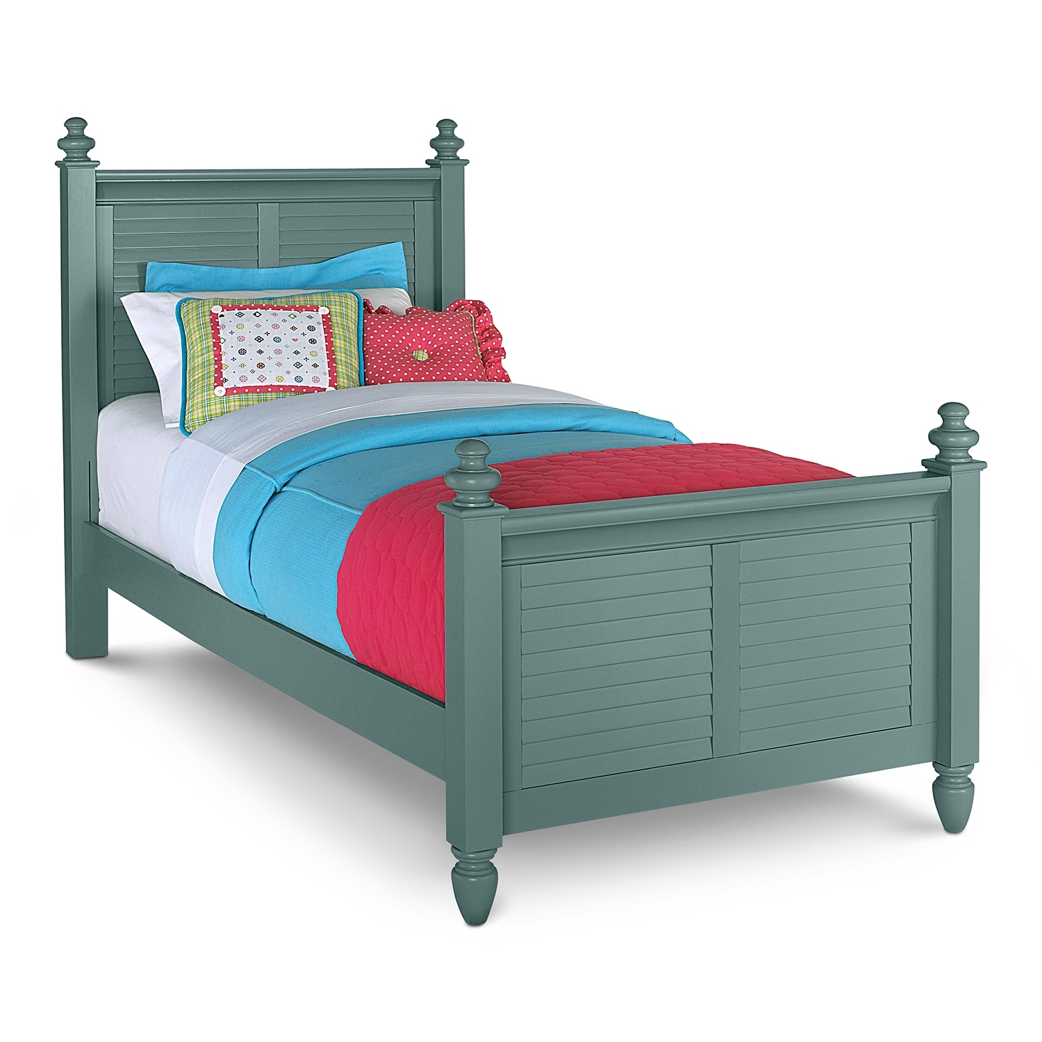Kids Furniture - Seaside Blue Twin Bed