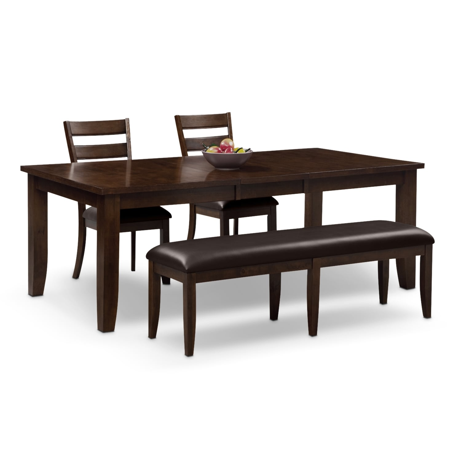 Abaco Table, 2 Chairs And Bench   Brown