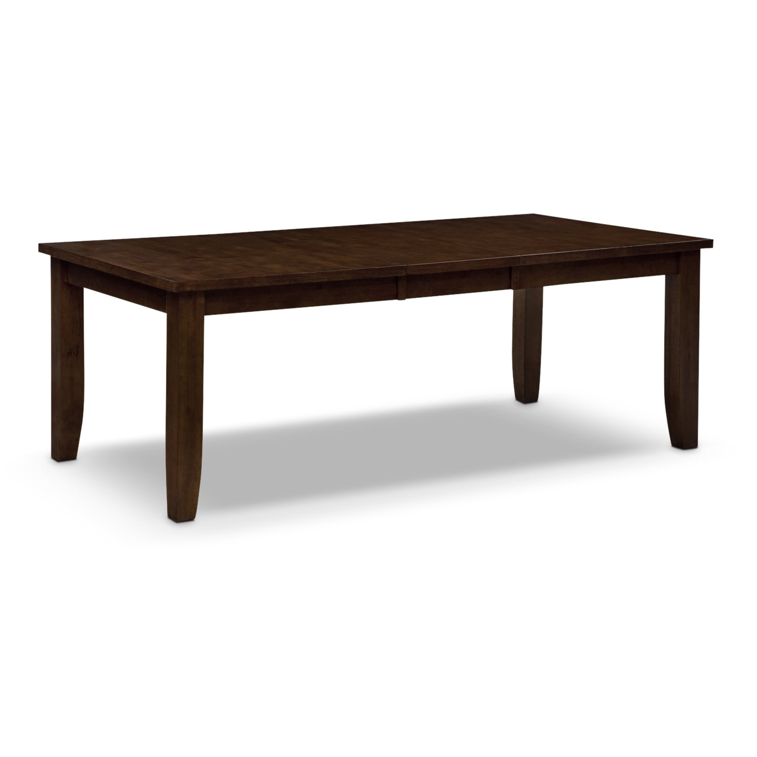Abaco dining table brown american signature furniture for Signature furniture