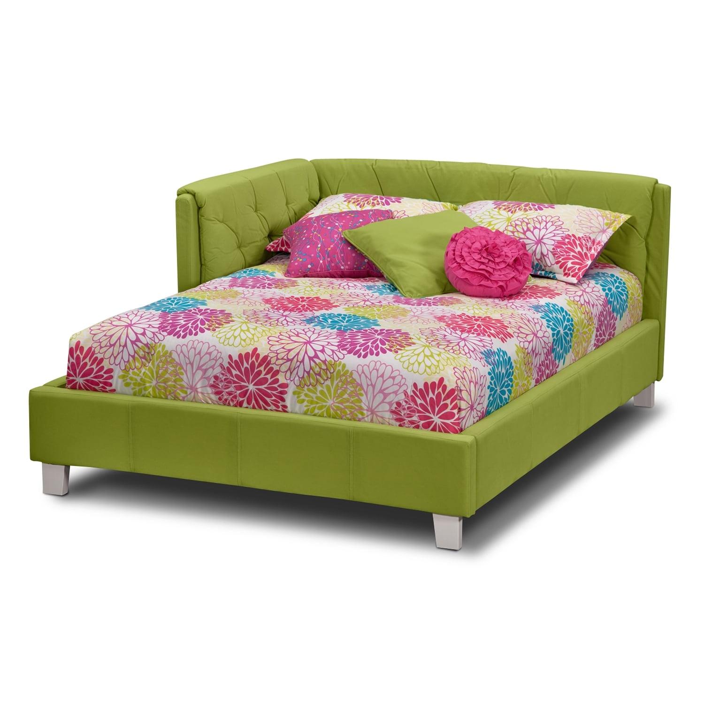 Design Corner Bed jordan full corner bed green american signature furniture click to change image