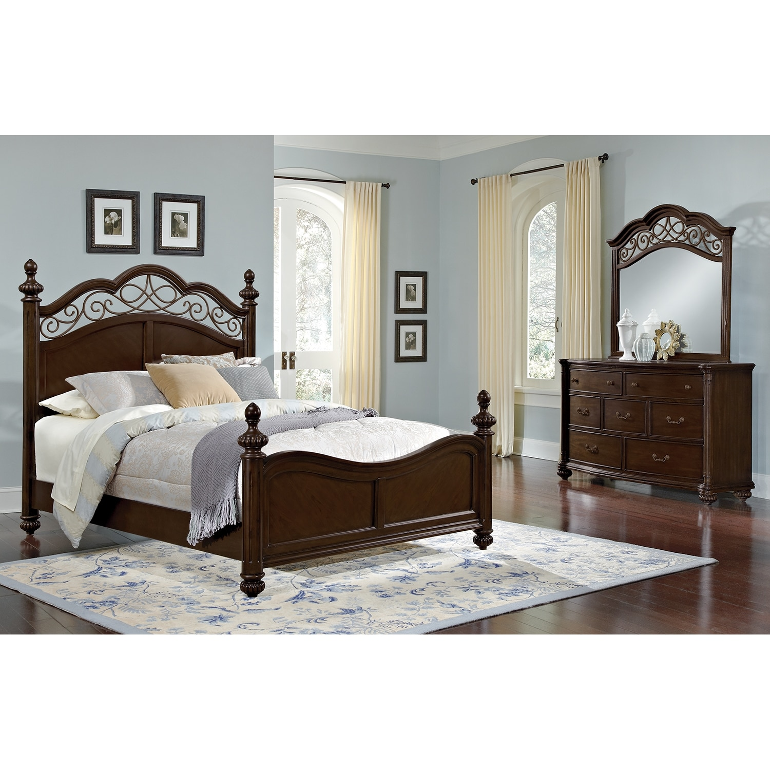 Bedroom Furniture - Derbyshire 5 Pc. Queen Bedroom