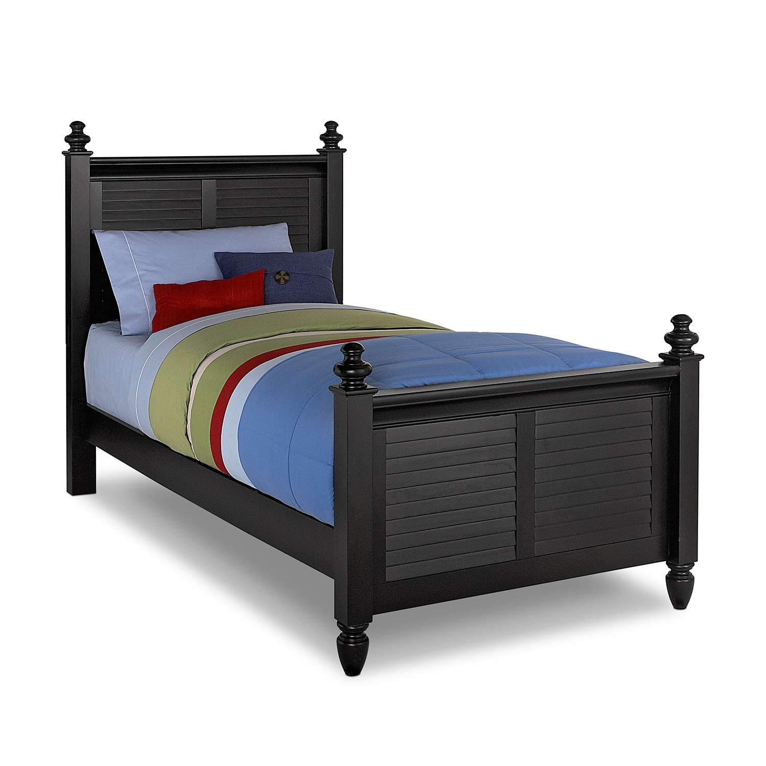Seaside twin bed black american signature furniture Black bunk beds