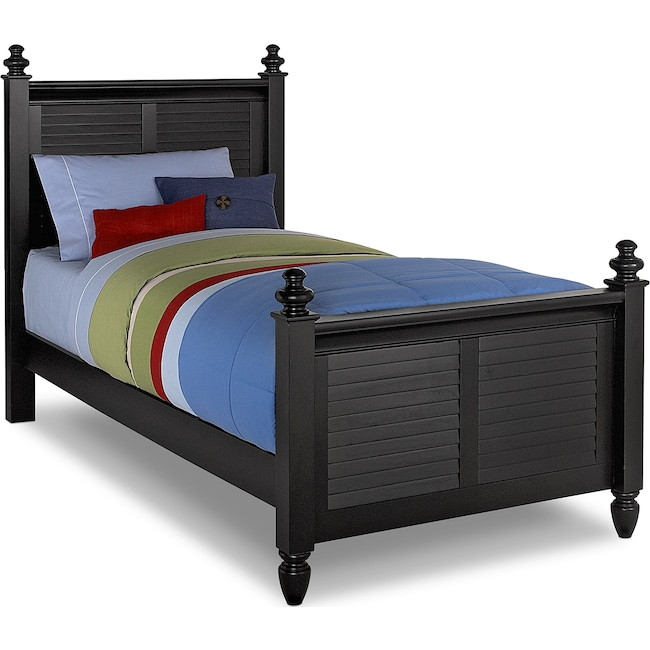 Kids Furniture - Seaside Twin Bed - Black