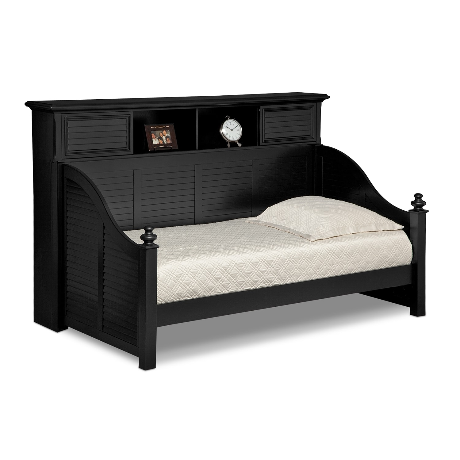 Seaside Black II Bookcase Daybed
