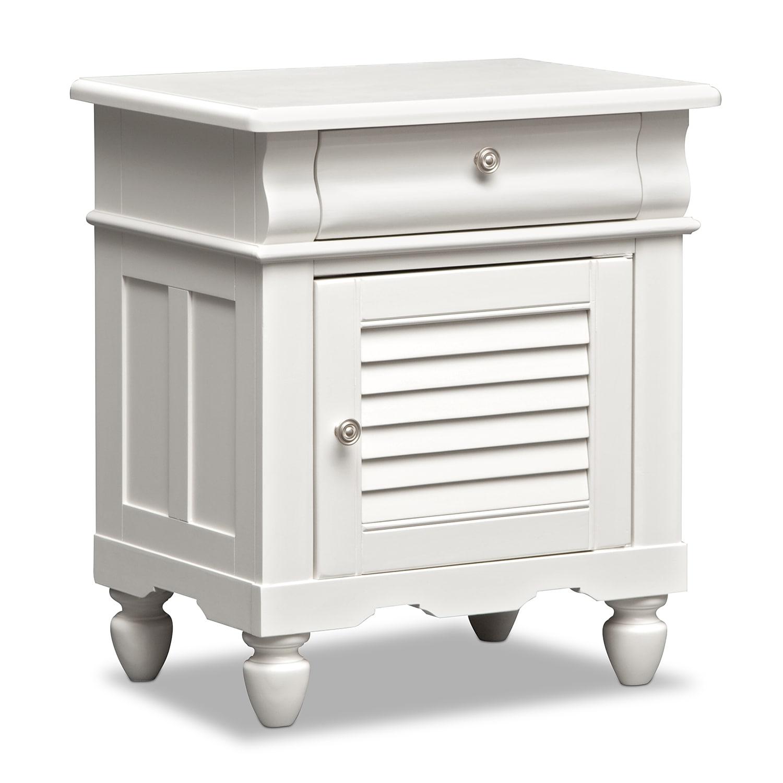 seaside white nightstand | american signature furniture