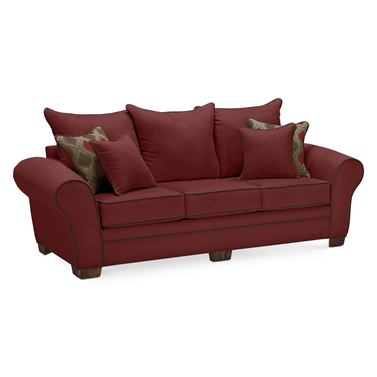 Rendezvous Sofa Wine American Signature Furniture