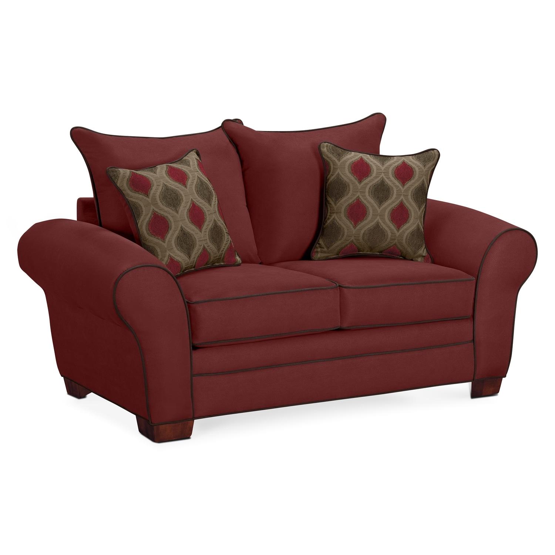 Living Room Furniture - Rendezvous Loveseat - Wine