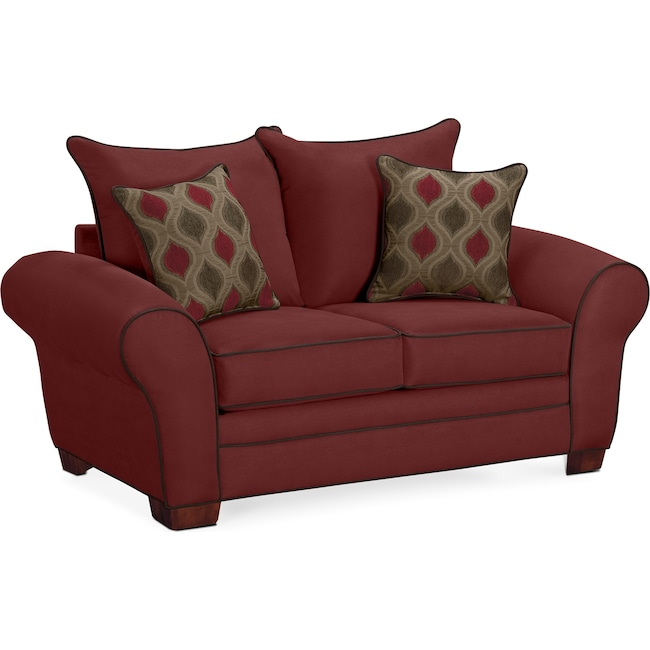 Living Room Furniture - Rendezvous Loveseat - Wine