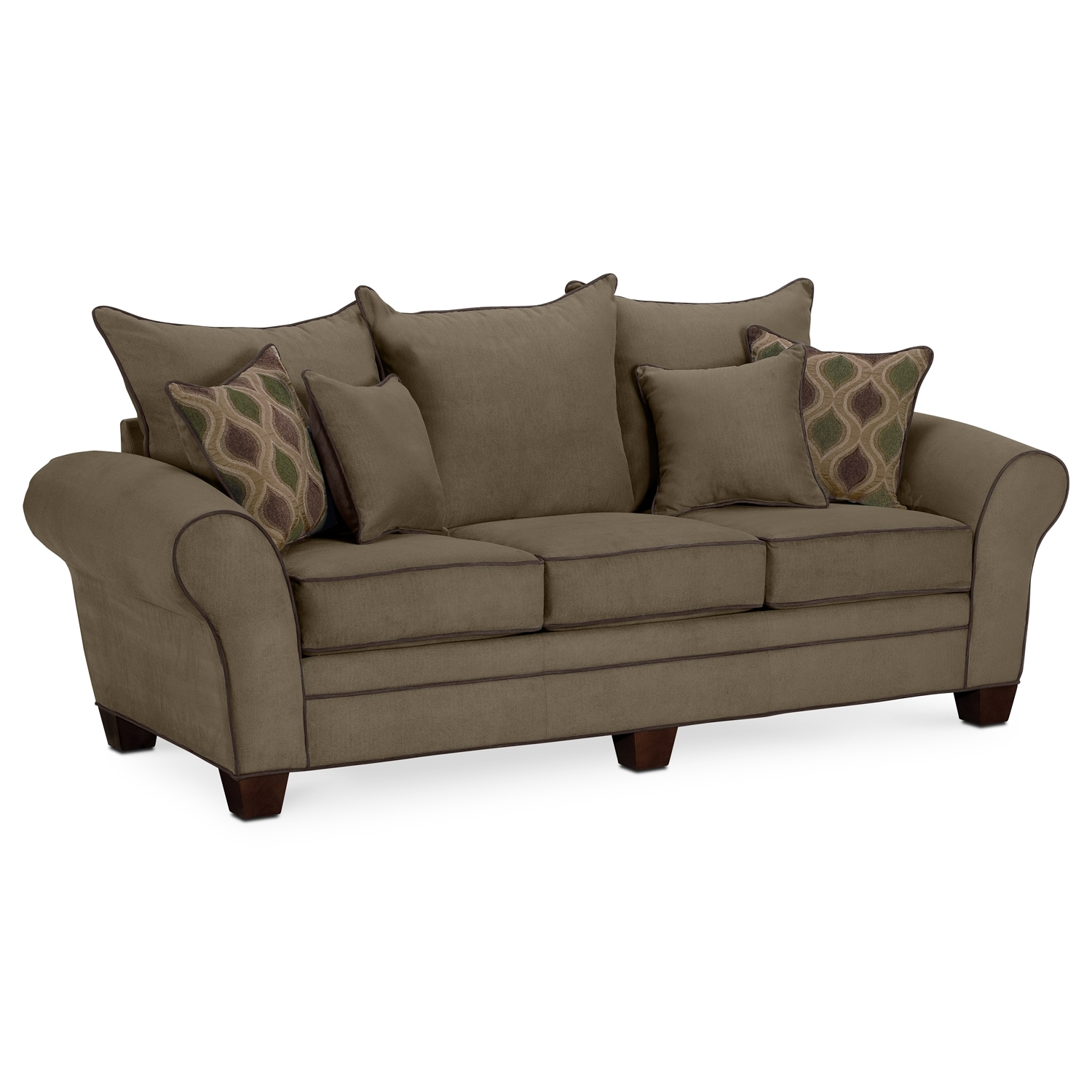 Was $499.99 Today $449.99 Rendezvous Sofa   Olive By Kroehler
