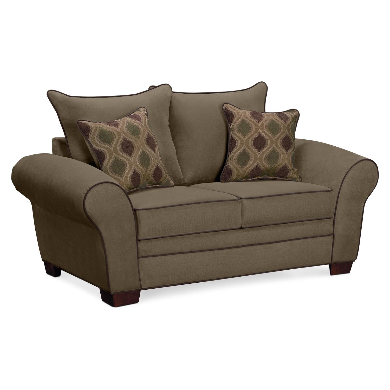 Living Room Furniture - Rendezvous Loveseat - Olive