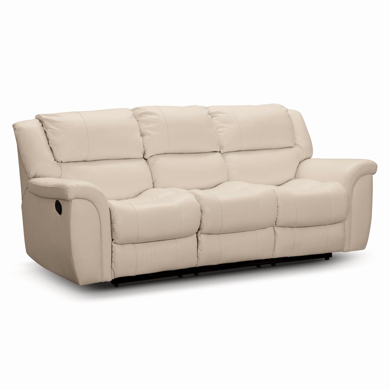 [Aquarius Dual Power Reclining Sofa]