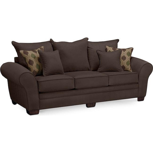Living Room Furniture - Rendezvous Sofa - Chocolate