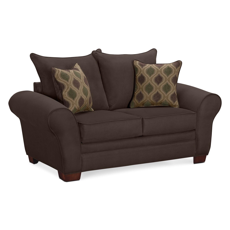 Living Room Furniture - Rendezvous Loveseat - Chocolate