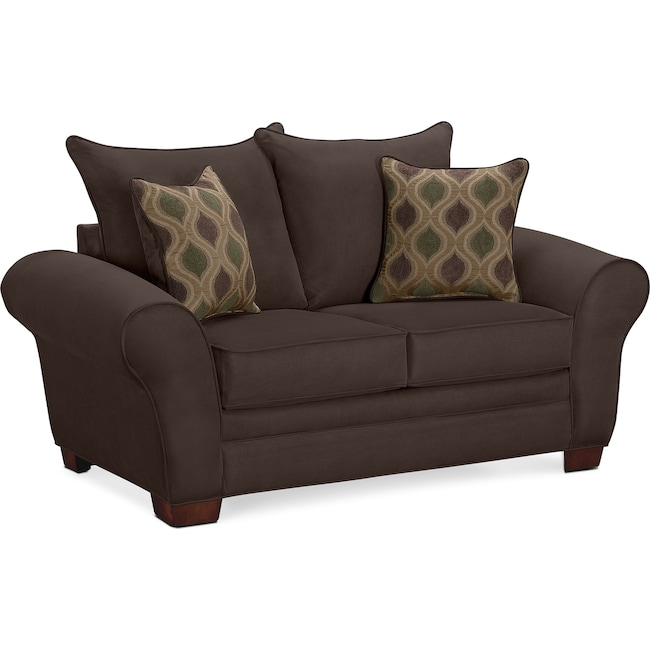 Living Room Furniture - Rendezvous Loveseat - Chocolate