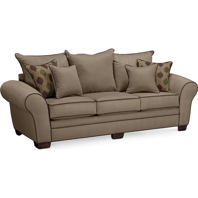 Living Room Furniture - Rendezvous Sofa - Tan