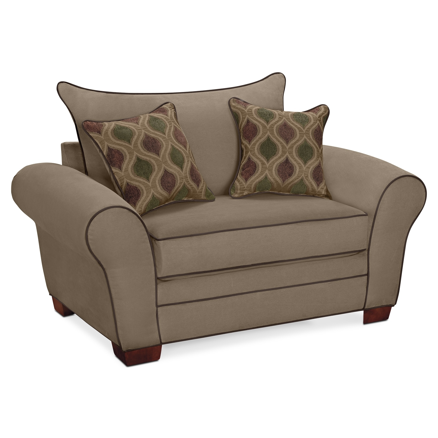 rendezvous chair and a half tan american signature furniture